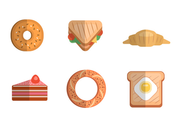 Breakfast Icons - Free vector #345721