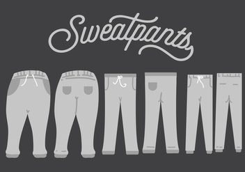 Sweatpants Vector - vector #345731 gratis