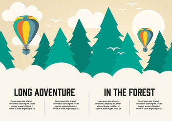 Free Flat Long Adventure Vector Background - Free vector #345791