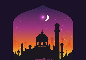 Free Vector Arabian Nights Background - Free vector #345931