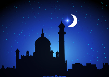 Free Arabian Nights Vector Background - vector gratuit #345951