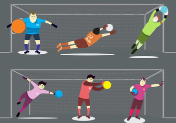 Goal Keeper in Actions - Free vector #345961
