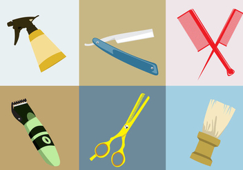 Various Barber Tools - Free vector #345991