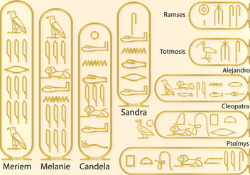 Names in hieroglyphics - vector gratuit #346001