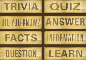 Golden Trivia Titles - Kostenloses vector #346011