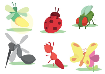 Colorful Insect Vector Set - бесплатный vector #346071