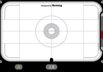 Viewfinder design with white background - vector gratuit #346141