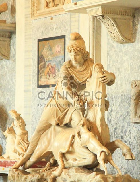Sculpture of rider with snake on horse in museum, Vatican, Italy - Free image #346181