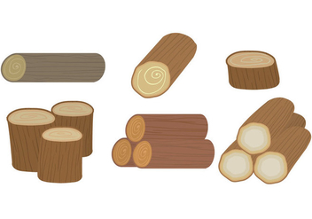 Wood Logs Vector - vector gratuit #346361