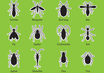 Pest Control Bugs - Free vector #346371