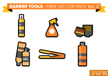 Barber Tools Free Vector Pack Vol. 2 - Kostenloses vector #346381