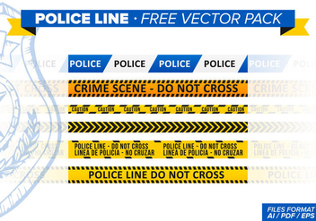 Police Line Free Vector Pack - vector #346391 gratis