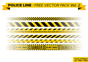 Police Line Free Vector Pack Vol. 2 - Free vector #346411
