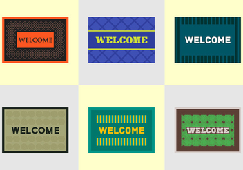 Free Welcome Mat Vectors - бесплатный vector #346421