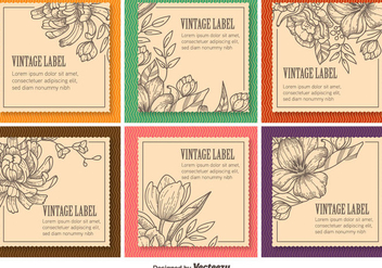 Floral Vintage Labels - Free vector #346451