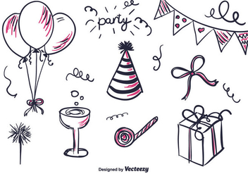 Free Hand Drawn Part Set - vector gratuit #346471