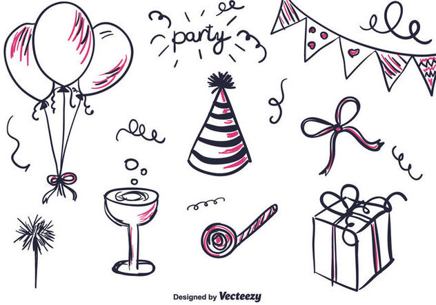 Free Hand Drawn Part Set - Free vector #346471