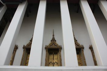 Columns of temple in Bangkok, Thailand - Free image #346551