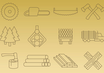 Sawmill Vector Icons - Free vector #346681