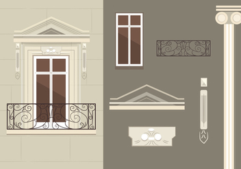 French Balcony Vectors - vector gratuit #346711