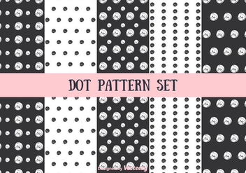Dot Pattern Vector Set - Kostenloses vector #346741