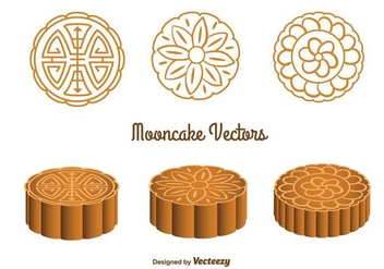 Cute Mooncake Vectors - бесплатный vector #346771