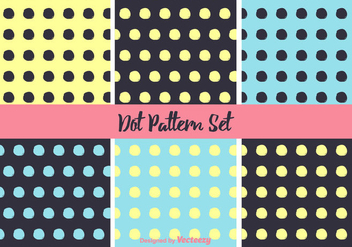 Simple Neon Dot Pattern Vector Set - Free vector #346791