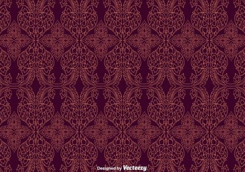 Free Maroon Thai Pattern Vector - бесплатный vector #346821