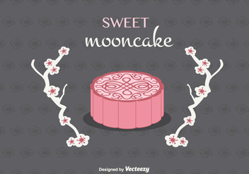 Mooncake Vector Background - Free vector #346831