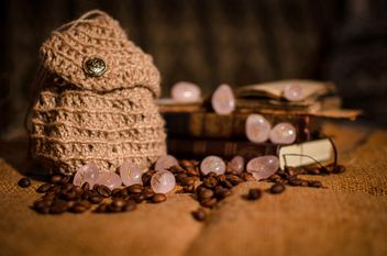 Old books, runes and coffee beans - image #346961 gratis