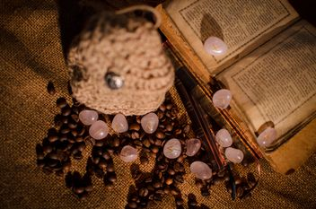 Old books, runes and coffee beans - image #346981 gratis