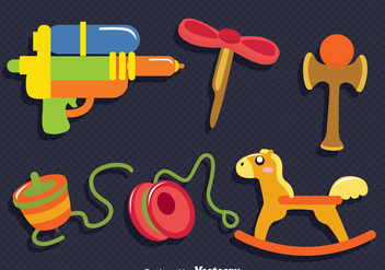 Children Toys Vector Set - vector gratuit #347081