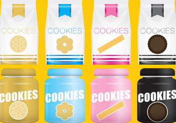 Vector Package Cookies - vector gratuit #347091