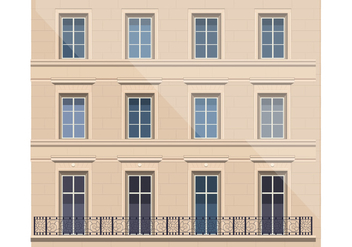 Architecture with Balcony Vector - vector gratuit #347111