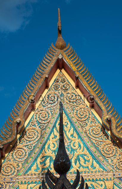 Thai temple against blue sky - Free image #347191
