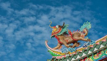 Dragon stucco reliefs in Chinese style - бесплатный image #347271
