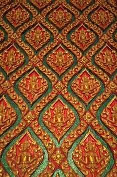 Art pattern stucco gold red temple wall - image #347291 gratis