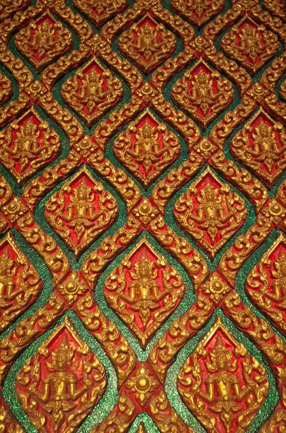 Art pattern stucco gold red temple wall - Free image #347291