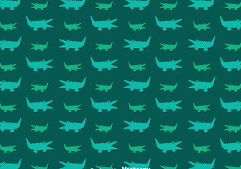Alligator Pattern Vector - vector #347391 gratis