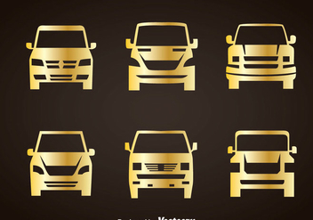 Cars Gold Icons - vector gratuit #347421