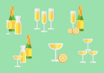 Free Mimosa Cocktail Pack - vector gratuit #347451