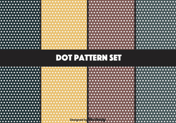 Navy and Mustard Vector Dot Pattern Set - Free vector #347481