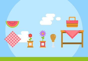 Free Family Picnic Vector Illustrations #3 - Kostenloses vector #347491