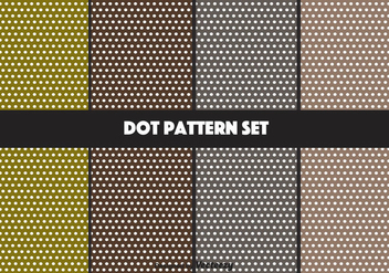 Earthy Vector Dot Pattern Set - Kostenloses vector #347561