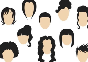 Free Hairstyle Vectors - Free vector #347641