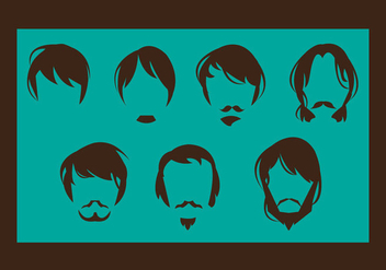 Free Man Hair Style Vector - Free vector #348051