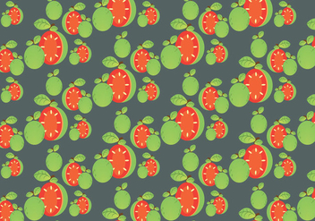 Free Guava Pattern and Leaf Vector - Kostenloses vector #348061