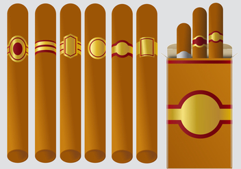 Cigar Label Vectors - бесплатный vector #348081