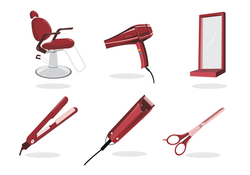 Barber Shop Tools - бесплатный vector #348171