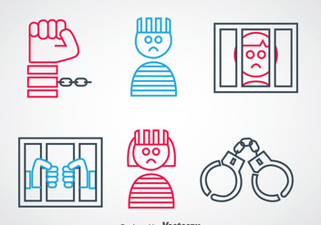 Robber Outline Icons - vector gratuit #348281